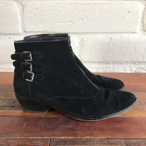 Rebecca Minkoff Alex Zipper Buckle Boots Suede